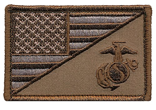 Tactical USA Marine Corps Military Patch - By Patch Squad (Desert)