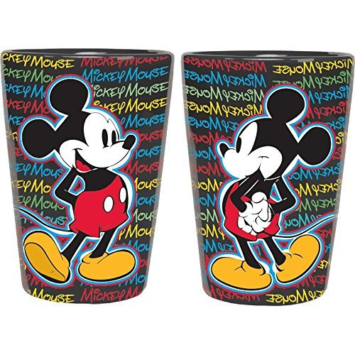 Disney Mickey Mouse Text Scribble Ceramic Shot Glass