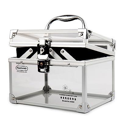 Durable Modeling Paubandy Acrylic Makeup Box With Lock Aluminium