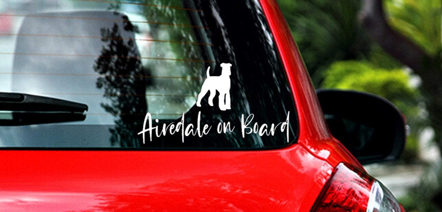 Airedale Terrier Dog Car Decal Stickers Animal on Board Puppy Pet Window Sticker Funny Truck Laptop Transfer