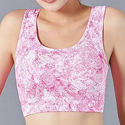 Qosow Sous-vêtements de sport femme Soutien-gorge de sport yoga dormir sport soutien-gorge Soutien-gorge sous-vêtements fitness course