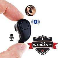 MARVIK Wireless Bluetooth Headphones with Mic, Vol Button for Mi Note 5 Pro, TS Mi Note 5 Pro, Redmi 6 Pro, Redmi 6A, Redmi Y2, Mi A2, Redmi 5, Redmi 4, Mi A1, Y2, Y3 Mi Note 7 Pro (Black)