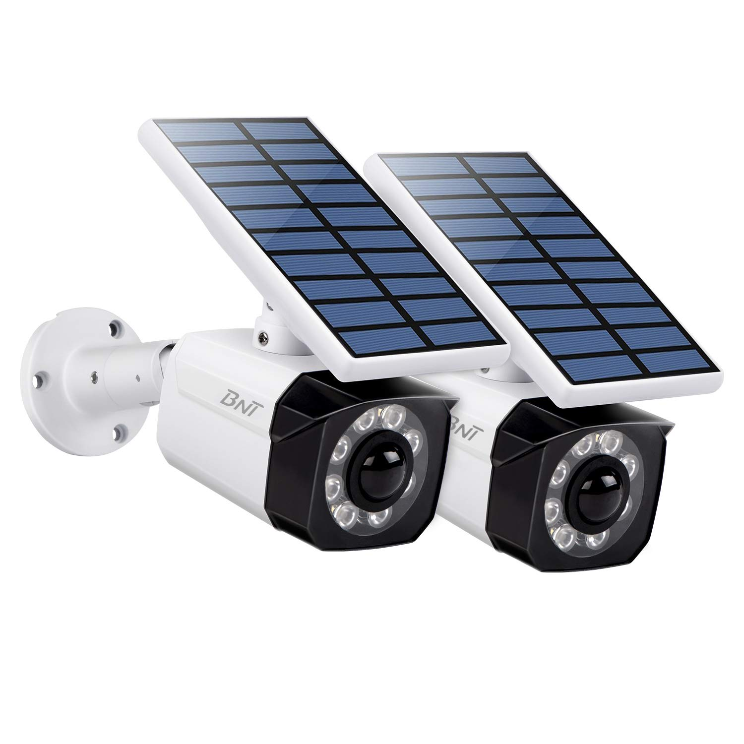 Solar Lights Outdoor Motion Sensor, 800Lumens 8 LED Wireless Motion Sensor Light, IP66 Waterproof Solar Lights Outdoor for Yard Garden Driveway Fence (White, 2 Pack) by BNT