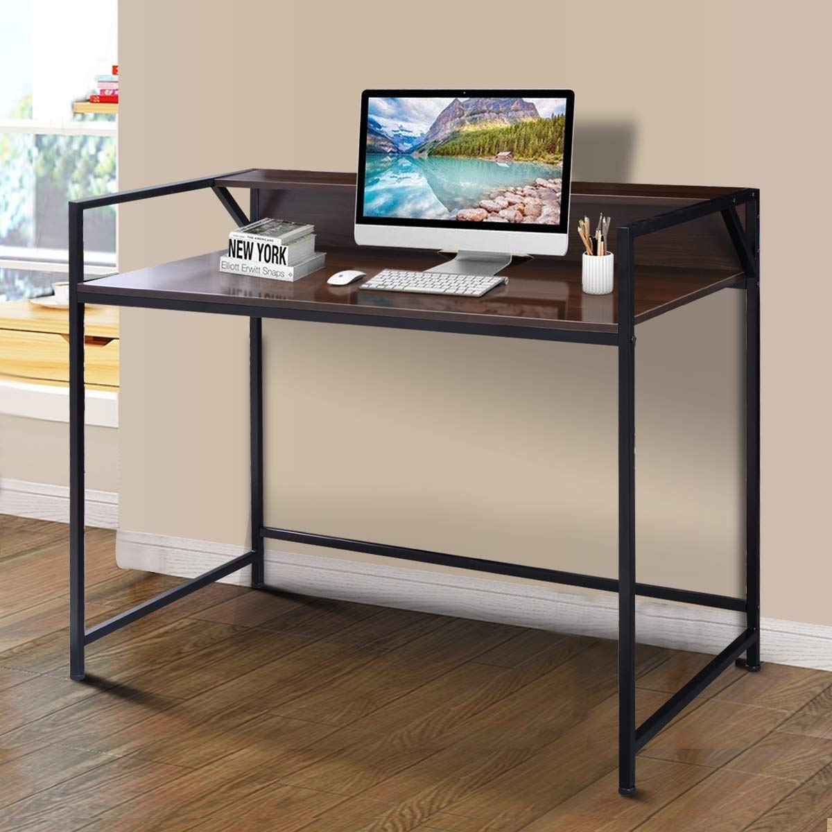 KING77777 Modern Simple and Unique Compact Design Simplistic Style Desk Computer Office Premium Quality Material Furniture by KING77777 (Image #4)