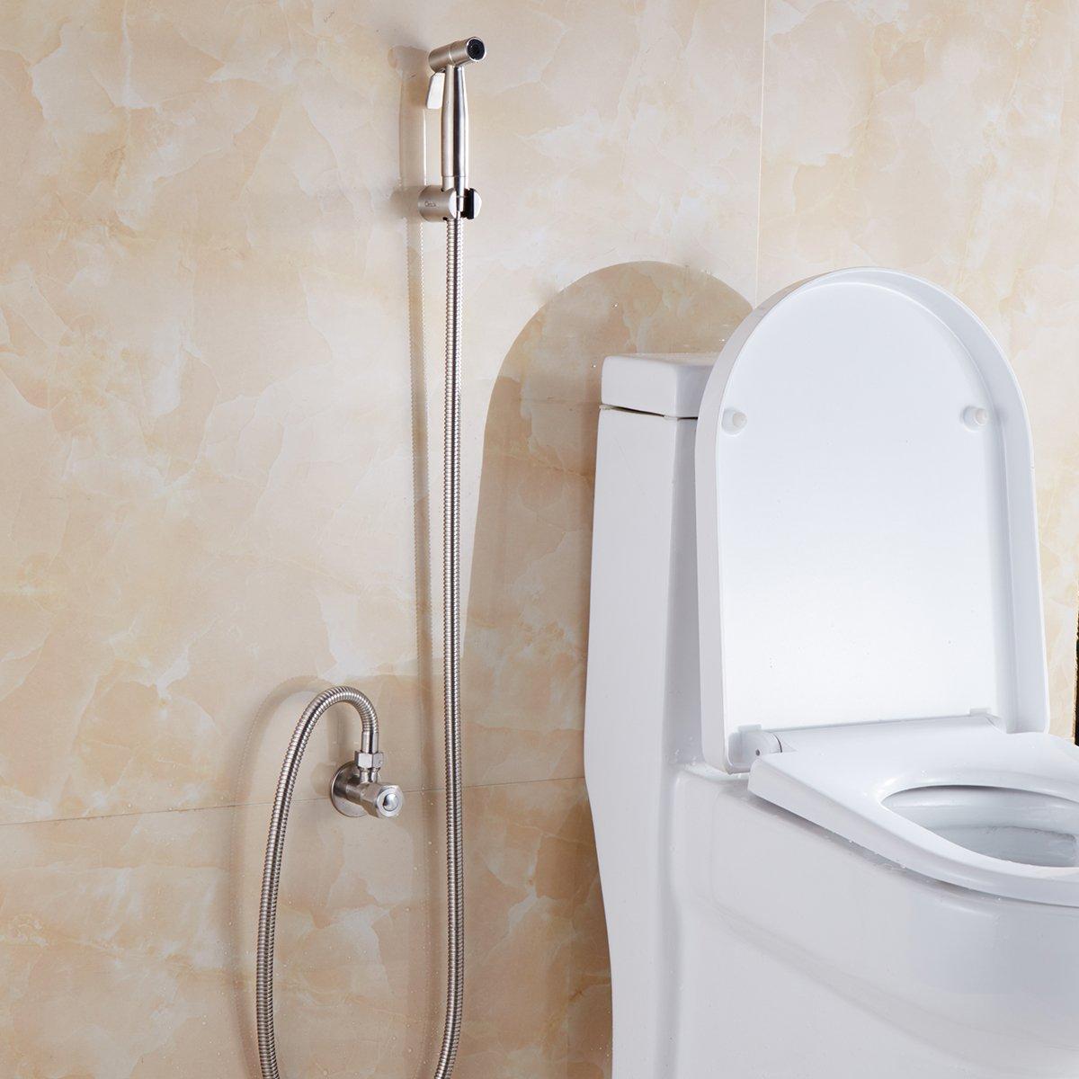 Set completo per bidet da toilette spruzzatore per bidet a mano per WC WS024AF6 Spruzzatore a mano in acciaio inox CIENCIA Spruzzatore in acciaio inossidabile Premium Shattaf