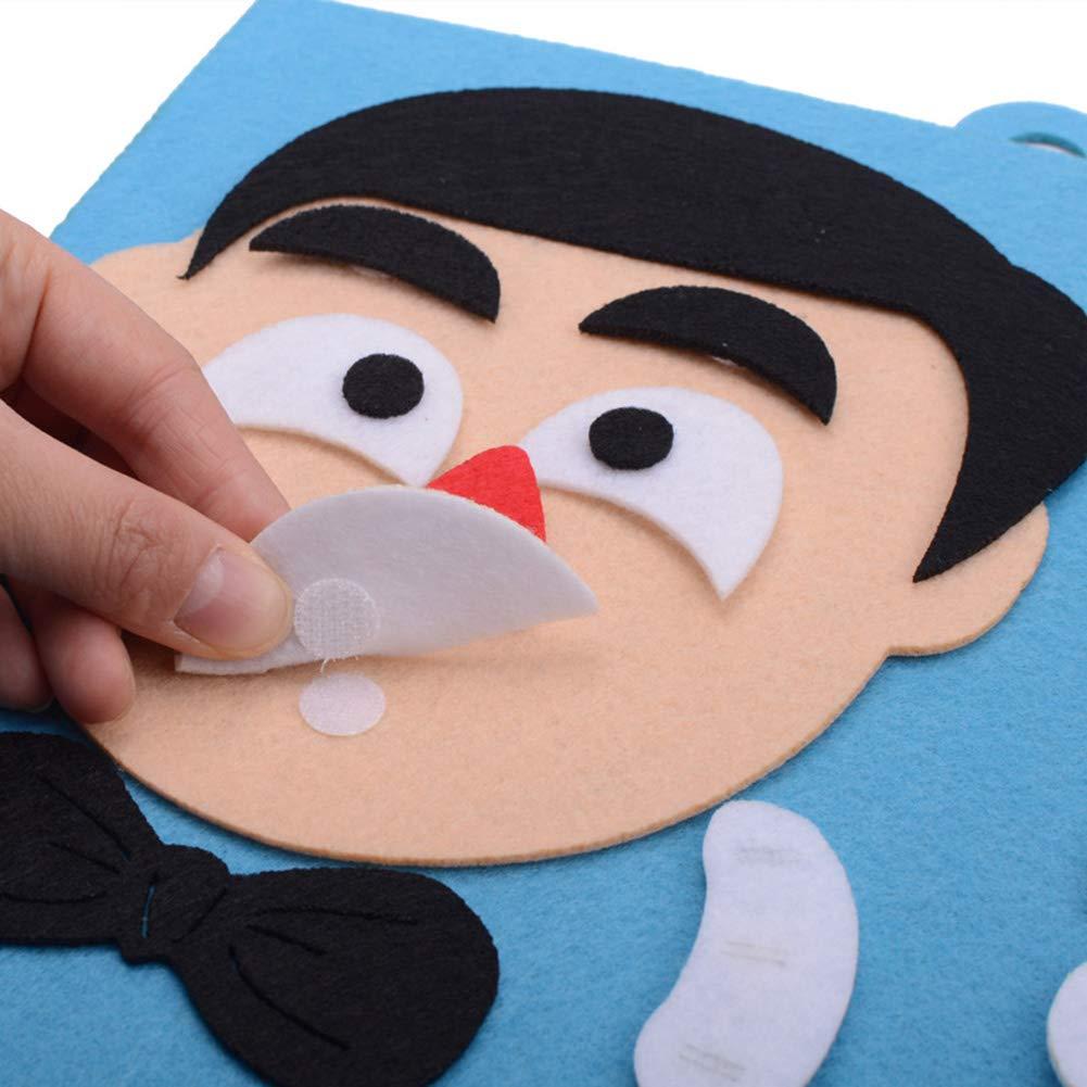 Ouken 1pc Funny Face Modifica Puzzle Toy Toy Bambini Bambini di apprendimento Diversi Stati danimo Le Emozioni facciali Espressioni Giocattolo educativo Giocattolo in anticipo di Sviluppo Figlia