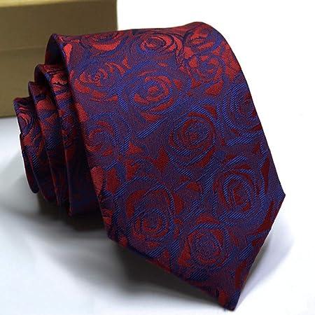 NSLDQ Corbata Corbatas de los Hombres Color sólido Flor de la Raya ...