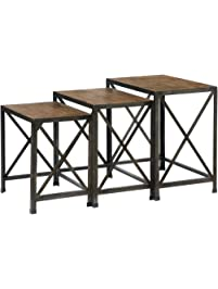 Ashley Furniture Signature Design   Vennilux Nesting End Tables   3 Piece  Table Set   Gray