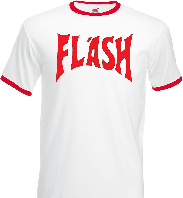 Col rond Manches courtes Flash Homme Imprim/é T-shirt