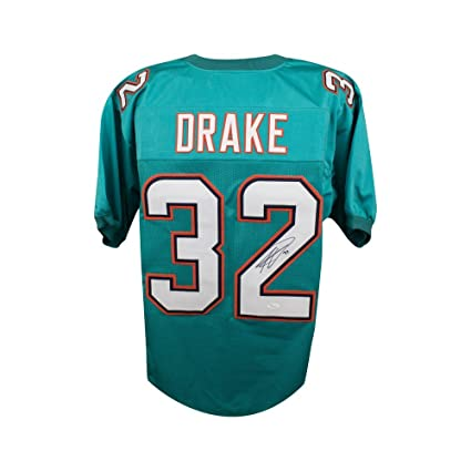 the best attitude 98450 0a4c5 Kenyan Drake Autographed Miami Dolphins Custom Green ...