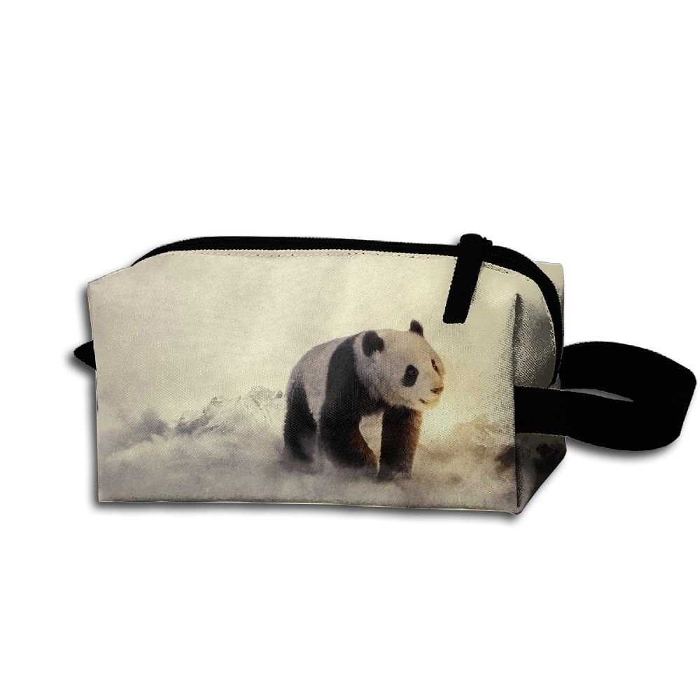 Makeup Cosmetic Bag Animals Winter Panda Medicine Bag Zip Travel Portable Storage Pouch For Mens Womens