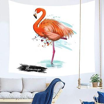 YINGBAOBAO Tapicería 3D Flamenco En El Agua Impresión Digital Decoración para El Hogar Sábanas Toallas De Playa Colchonetas De Yoga Mantas 150×200Cm: ...