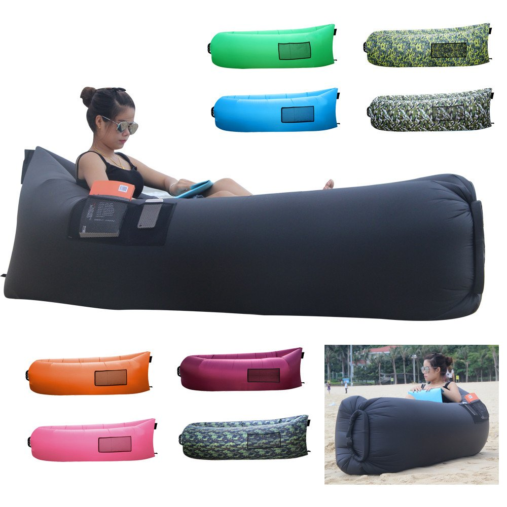 Bonclare Fast Inflatable Air Lounger Camping Bed Beach Sofa Air Bag Hangout  P