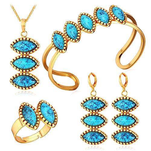 Turquoise Jewelry Necklace Bracelet Earrings