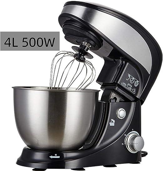 Batidoras Amasadoras,4 Litros Máquina Cocina Batidora Masa Multifuncional Para El Hogar,1000W Robot De Cocina,6 Velocidades Sistema De Rotación Planetaria,Batidora De Huevos,A: Amazon.es: Hogar