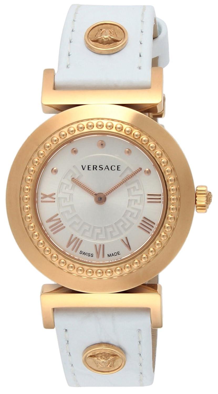 [ヴェルサーチ]VERSACE 腕時計 VANITY ホワイト文字盤 ステンレス(PGPVD) ケース カーフ革ベルト P5Q80D001S001 レディース 【並行輸入品】 B00F3YUQ3O