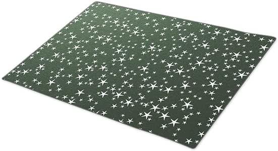 Palepink Star Wallpaper Monogrammed Door Mat