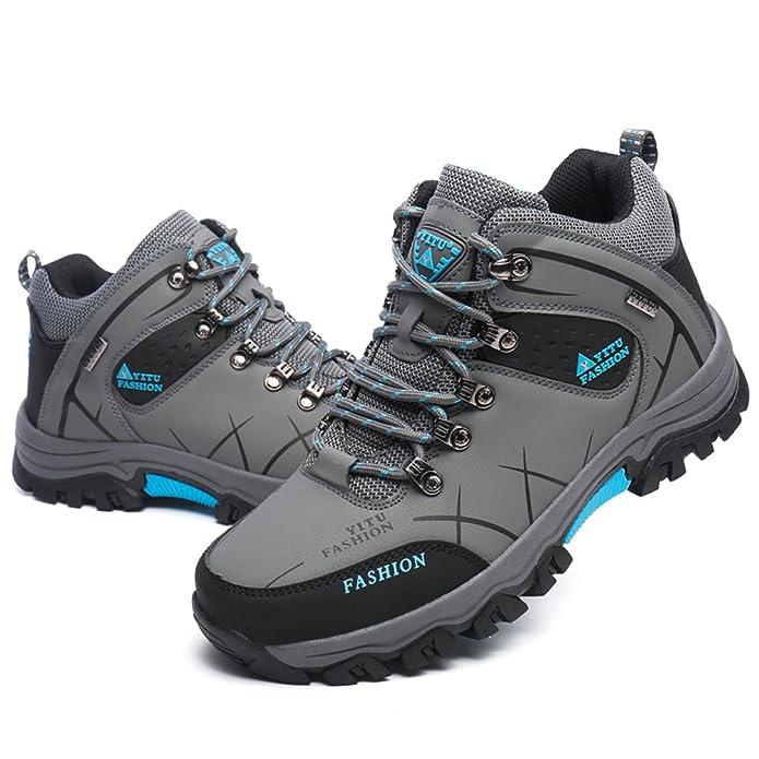 Laiwodun Men's Hiking Trekking Shoes Sport all'aria aperta Stivali invernali (43EU, marrone)