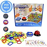 ABrand New Concept ofSpeed Connect Game - 2017 New Design Speed Rings Gamefor Kids Adults Party Family Game, Colors and Shapes Match Game, idea birthday gift for kids 5 years and up