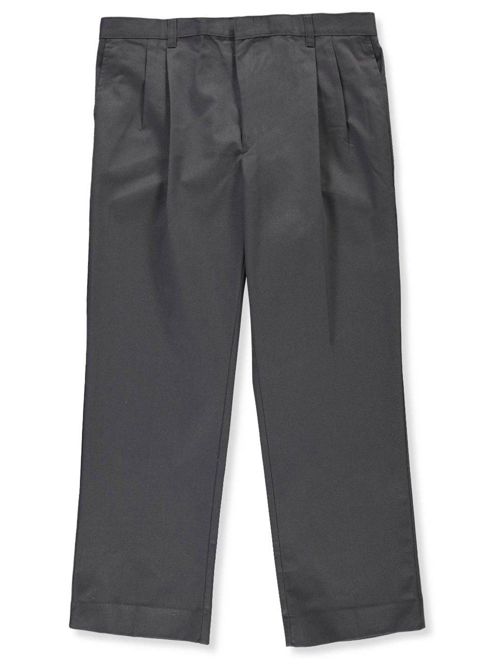 Cookie's Brand Boys' Husky Pleated Pants - Gray, 42 Husky