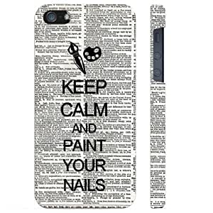 Keep Calm And Paint Your Nails Dictionary iPhone 5 Case - Candy Case iPhone 5G Case - Candy Case - SoftShell Full Plastic