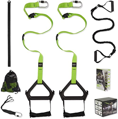 PEXFT Bodyweight Resistance Trainer Kit – Outdoor and Indoor, Easy and Quick to Train Indoors Without Installing Door Stop