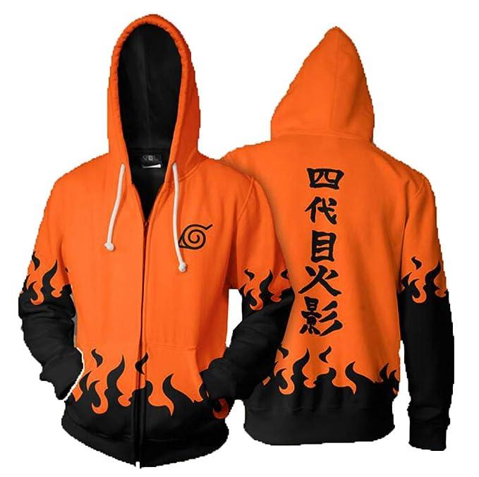 Cosstars Naruto Anime Sudaderas con Capucha Chaqueta Cosplay Disfraz 3D Impreso Zip Hoodie Jacket Outwear Abrigo: Amazon.es: Ropa y accesorios