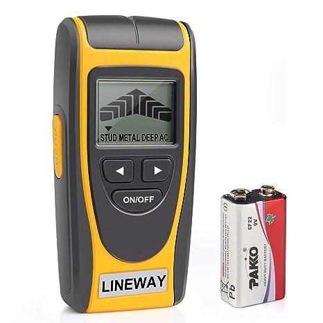 Lineway Stud Buscador de pared con pantalla LCD, detector de sensor de pared con advertencia