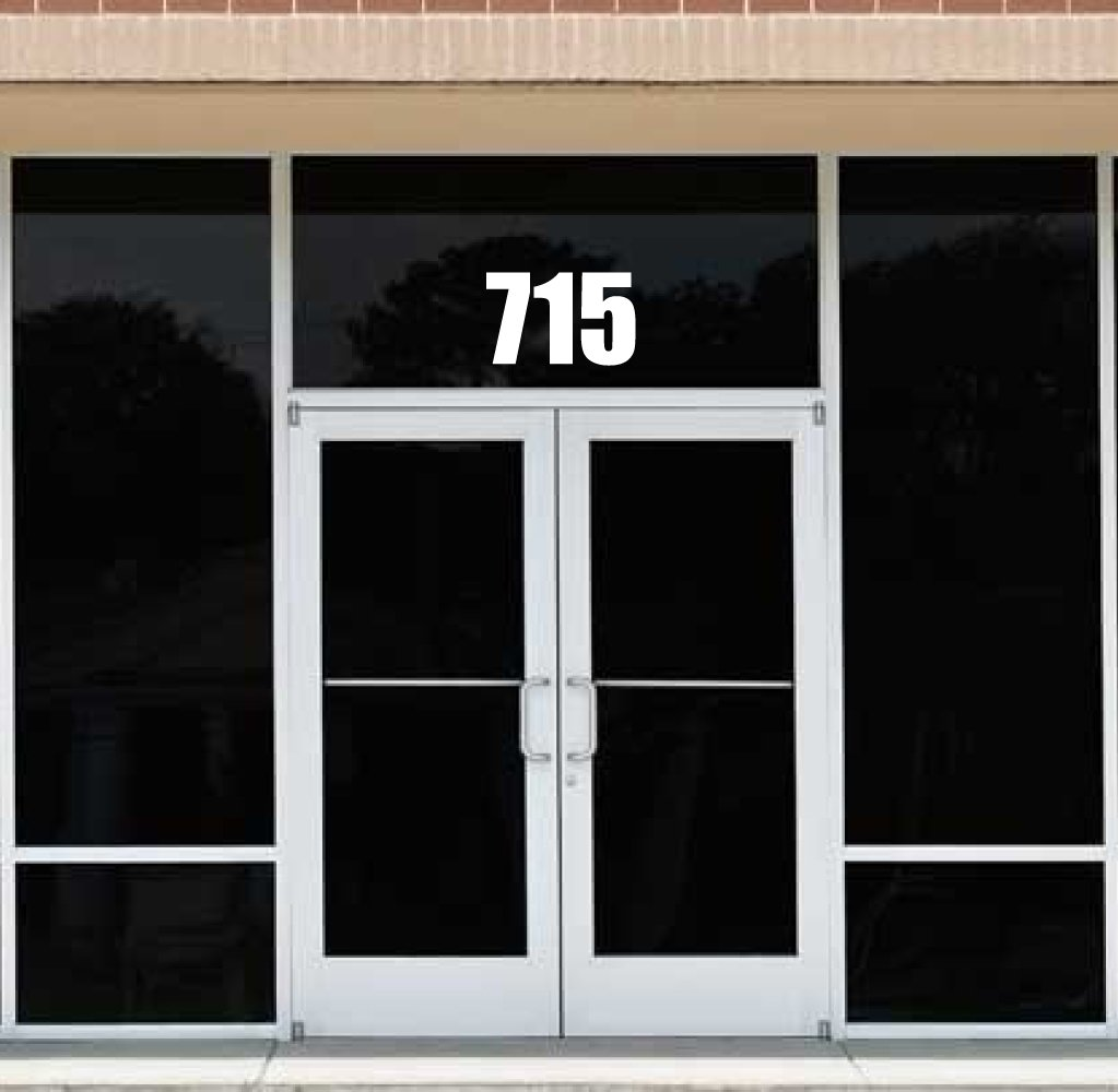 The Sticker Boss Customized Business Front Door Address Street Number - pick color - pick your numbers - up to 3 digits