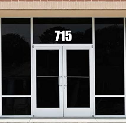 Amazon The Sticker Boss Customized Business Front Door Address