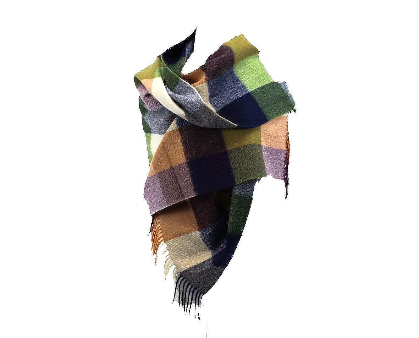 avvolgere sciarpa Wide touch of cashmere/® Scottish Tartan stola Cosy Essentials 190/x 70/cm