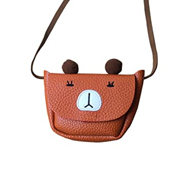 e6e65df7ad47 Buy Leoie Kids Little Girl Mini Cute Cartoon Coin Purse Shoulder Bag Baby  Bag Bear Coffee Online at Low Prices in India - Amazon.in