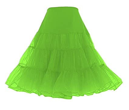"e4b9778e51cf BellaSous Tea Length 26"" Women Petticoat Nylon Yoke Underskirt for Vintage  Dresses, Poodle Skirts"
