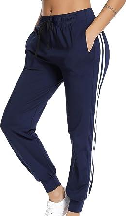 Starbild Pantalones Deportivos Casual Transpoirable Para Mujer Con Cintura Elastico Cordon Y Bolsillos Para Deportes Caseros Fitness Jogger Gym Amazon Es Ropa Y Accesorios