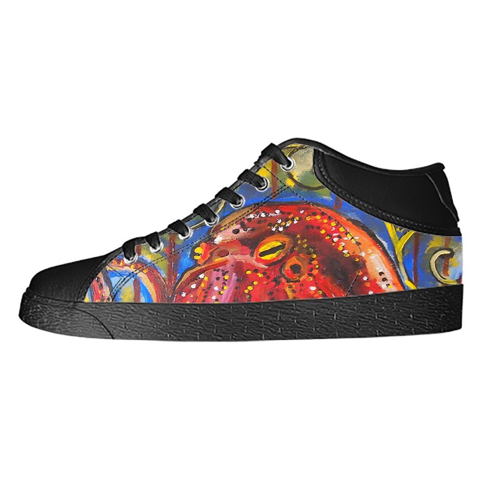 Custom Octopus Mens Classic High Top Canvas Shoes Fashion Sneaker