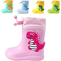 CELANDA Niños Dinosaurio Botas de Agua Impermeable y Antideslizante Caucho de EVA Zapatos de Lluvia para Niños y Niñas…