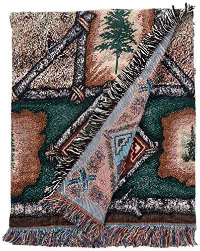 Pheasant Lodge Tapestry Throw (Elk Lodge Woven Throw Blanket)