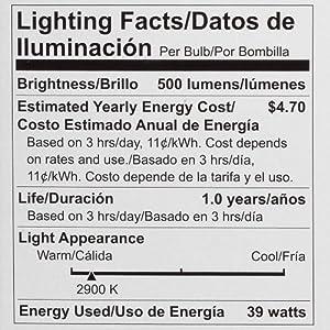 Philips Halogen Dimmable PAR20 Flood Light Bulb: 2900-Kelvin, 39-Watt (50-Watt Equivalent), Medium Screw Base, Soft White, 4-Pack