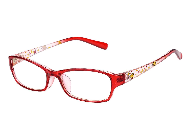 Agstum Kids Optical Glasses Frame Retro Rectangle Clear Lens