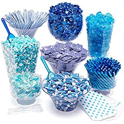 Blue Candy Kit - Party Candy Buffet Table: 25 to 50 Guests