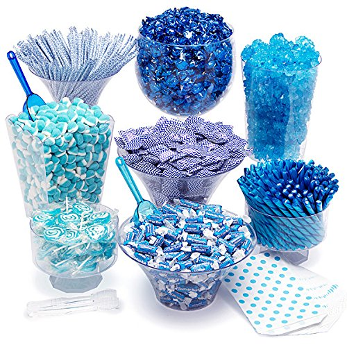 - Blue Candy Kit - Party Candy Buffet Table: 25 to 50 Guests