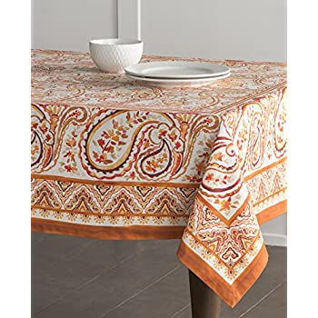 Maison Du0027 Hermine Palatial Paisley 100% Cotton Tablecloth 60   Inch By 120