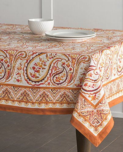 Maison d' Hermine CLEARANCE SALE Palatial Paisley 100% Cotton Tablecloth 54 - Inch by 72 - Inch. (Sales And Clearance)