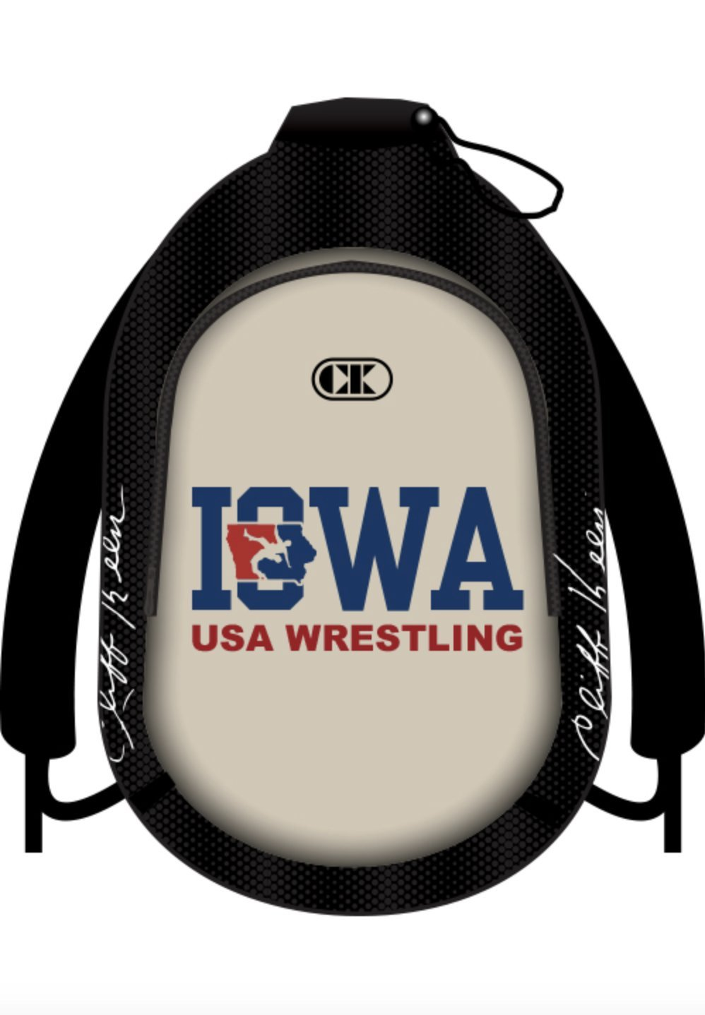 Cliff Keen Iowa Sublimated Backpack USA Wrestling Logo MBPIAU2