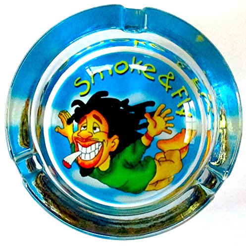 Marijuana-Weed-Smoke-and-FLY-Glass-Ashtray