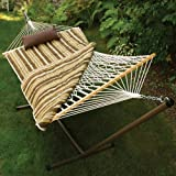 Algoma 11 ft. Cotton Rope Hammock Metal Stand Set