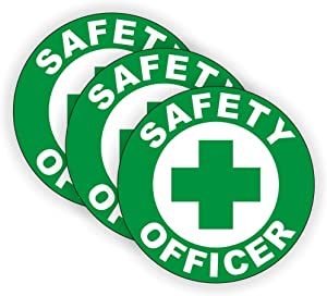 Safety Officer Hard Hat Sticker / Helmet Decal Label Lunch Tool Box