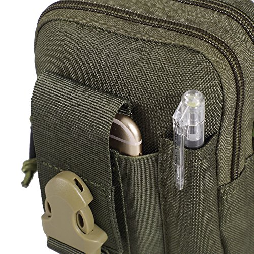 OneTigris Compact MOLLE EDC Pouch Utility Gadget Pouch (RangerGreen)