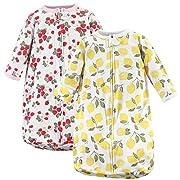 Hudson Baby Baby Long Sleeve Cotton Safe Wearable Sleeping Bag, Fruit, One Size