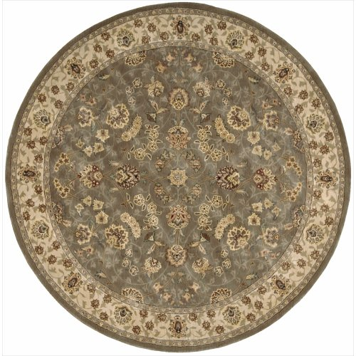 Nourison Nourison 2000 (2003) Olive Round Area Rug, 6-Feet by 6-Feet  (6' x 6')